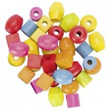 Комплект цветни мъниста Goki, 51 части -1