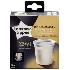 Комплект контейнери за кърма Tommee Tippee - Closer to Nature, 60 ml, 4 броя -1