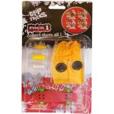 Комплект играчки за пръсти Grip&Trick - Penny Board, червен -1
