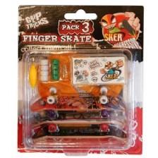 Комплект играчки за пръсти Grip&Trick - Скейтборди, 3 броя -1