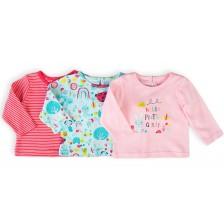 Комплект блузки с дълъг ръкав Minoti Ladybug - 0-3 месеца, 3 броя -1