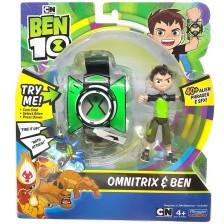 Комплект Playmates Ben 10 - Omnitrix часовник със звуци и фигурка -1
