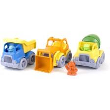 Комплект строителни превозни средства Green Toys, 3 броя -1