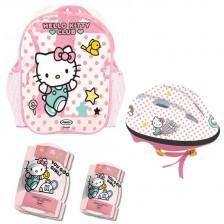 Комплект D'Arpeje Hello Kitty - Каска, наколенки и налакътници -1