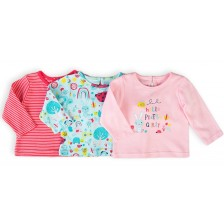 Комплект блузки с дълъг ръкав Minoti Ladybug - 6-9 месеца, 3 броя -1