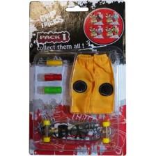 Комплект играчки за пръсти Grip&Trick - Long Board, сив -1