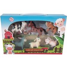 Комплект фигури Ocie - Животни от фермата, 6 броя -1