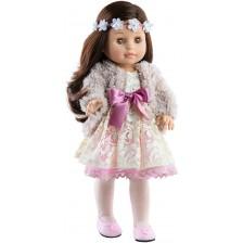 Комплект дрехи за кукла Paola Reina Soy Tú - Дантелена рокля и късо палто, 42 cm -1