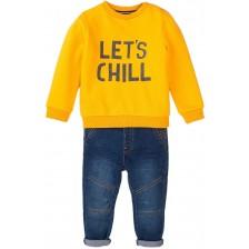 Комплект блуза и дънки Minoti - Easy, 9-12 месеца -1