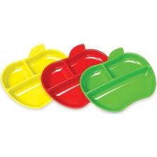 Комплект чинии Munchkin - Ябълка, 3 броя -1