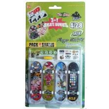 Комплект играчки за пръсти Grip&Trick - Скейтборди, 4 броя -1