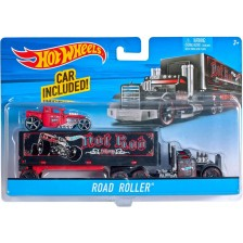 Комплект Mattel Hot Wheels Super Rigs - Камион и кола, асортимент -1