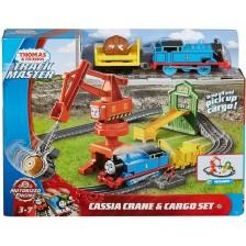 Комплект Fisher Price Thomas & Friends - Кран Касия и локомотив Томас -1