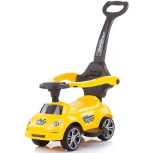 Кола за яздене с дръжка Chipolino - Турбо,  жълта -1