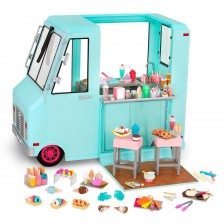Игрален комплект Our Generation - Камион за сладолед -1