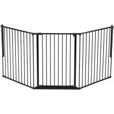 Комбинирана преграда BabyDan - Черна, L, 105 cm -1