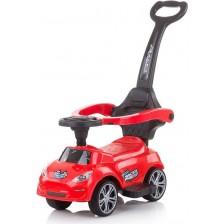 Кола за яздене с дръжка Chipolino - Турбо, червена -1