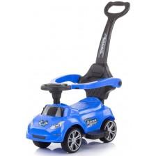 Кола за яздене с дръжка Chipolino - Турбо, синя -1
