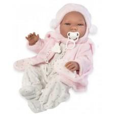 Кукла бебе Asi - Мария, с ританки и зимно палтенце, 43 cm -1