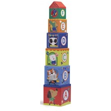 Кубчета за деца Еurekakids - Cyrcus pyramid, 6 броя -1
