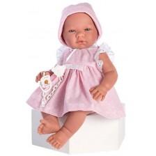 Кукла бебе Asi - Мария, с розова рокля, 43 cm -1