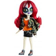 Кукла Paola Reina Catrinas - Мая, с червена коса и камуфлажно яке, 34 cm -1