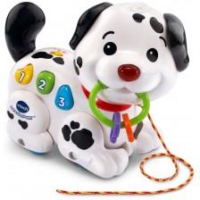 Бебешка играчка Vtech - Музикално кученце, за дърпане -1