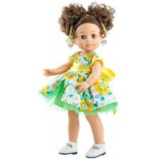 Кукла Paola Reina Soy Tú - Емили, с къса ролкя на цветя, 42 cm -1