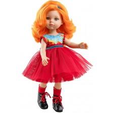 Кукла Paola Reina Amiga Funky - Сузана, с рокля с червен тюл, 32 cm -1
