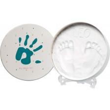 Кутия за бебешки отпечатък Baby Art - Essentials, без изпичане -1