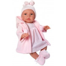 Кукла бебе Asi - Лея, с розово палто, 46 cm -1