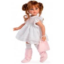 Кукла Asi - Сабрина с бяла рокля и розова чанта, 40 cm -1