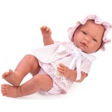 Кукла бебе Asi - Мария, с розово костюмче на точки, 43 cm -1