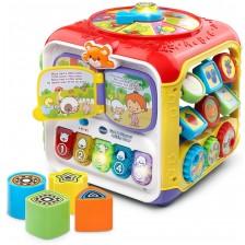 Бебешка играчка Vtech - Занимателен куб, със светлина и звук -1