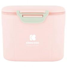 Кутия за сухо мляко Kikka Boо - Розова, с лъжичка, 160 g -1