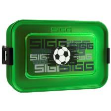 Кутия за храна Sigg Metal Box Plus S - Футбол, зелена -1