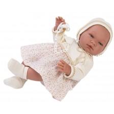 Кукла бебе Asi - Мария, с рокля с цветя, 43 cm -1