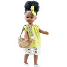 Кукла Paola Reina Mini Amigas - Ноа, със зелена рокля, 21 cm -1
