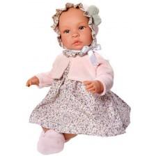 Кукла бебе Asi - Лея, с рокля на цветя, 46 cm -1