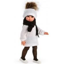 Кукла Asi - Сабрина с бяла рокля и черен шал, 40 cm -1