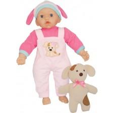 Кукла с меко тяло Dimian Bambolina - С кученце, 41 cm -1