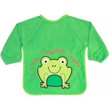 Лигавник с дълги ръкави и бродерия Lorelli - Зелен, с жабка -1