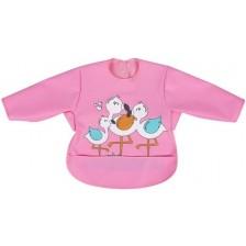Лигавник пева с ръкави Sevi Baby - Фламинго -1