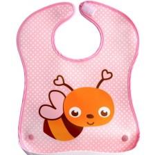 Лигавник с пластмасов джоб Sevi Baby - пчела -1