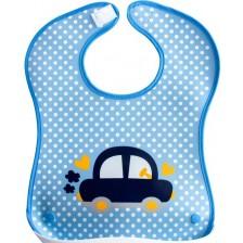 Лигавник с пластмасов джоб Sevi Baby - кола -1