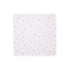 Памучна пелена Lorelli - Розови звезди, 80 х 80 cm -1