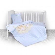 Спален комплект 4 части Lorelli - Bear Party, blue -1