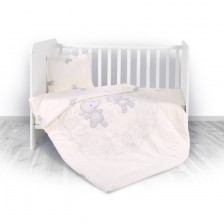 Спален комплект 4 части Lorelli - Hippo, beige -1