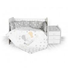 Сет за легло Lorelli Тренд - Слонче, ранфорс, със звезди -1