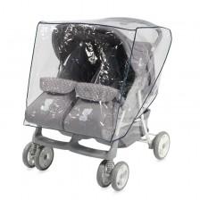 Универсален дъждобран за количка Lorelli Duo - За близнаци -1